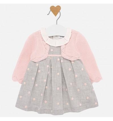 Vestido rosa para bebe niña