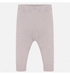 Leggings para bebe niña en hilo rosa