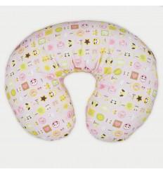 Almohada lactancia rosa con animales panda