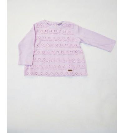 Blusa manga larga rosado