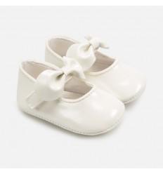 Zapato velcro moño bebe niña