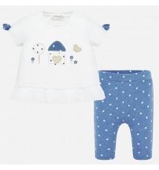 Conjunto bebé-Blusa y pantalón