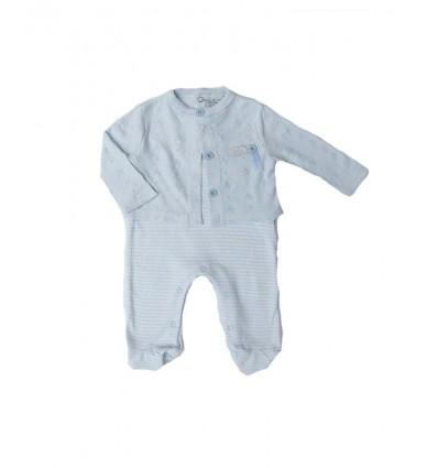 Pijama para bebe azul cielo