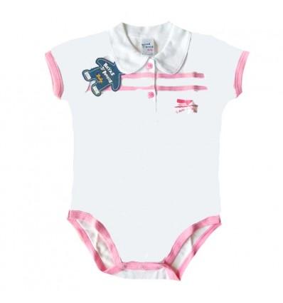 body para bebé niña rosa ballena