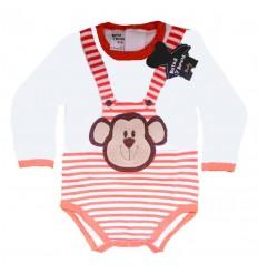 body para bebé mono naranja