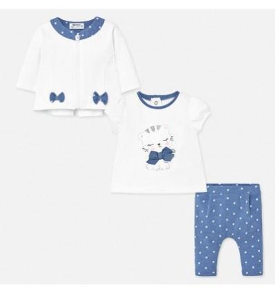 conjunto para bebé azul gatica
