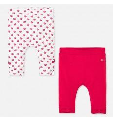 pantalón para bebé tipo leggings rojo