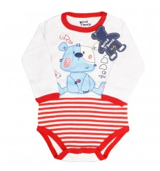Body manga larga rojo-KidHouse