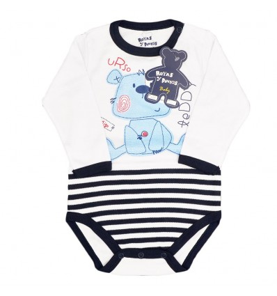Body manga larga azul-Kidhouse