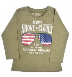 Buzo verde militar para niño