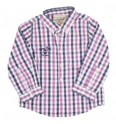 Camisa niño a cuadros morada