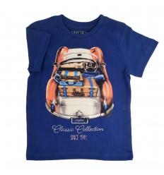 Camiseta estampada azul Mayoral
