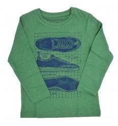 Buzo cuello redondo verde para niño