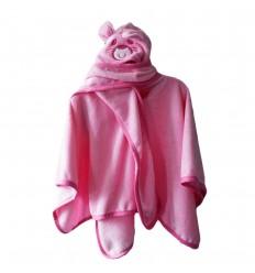 Ruana de osito rosada-Kidhouse
