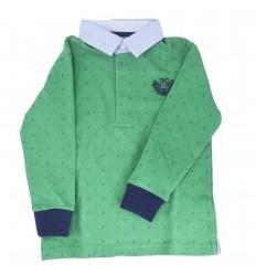 Polo manga larga verde-Kidhouse