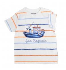 Camiseta para niño blanca-Kidhouse