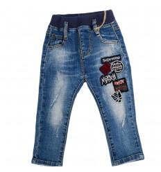 Jean para niño azul con estampado