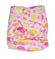 Pañal ecológico rosa para bebé