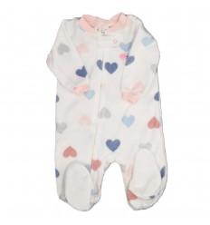 Pijama enteriza niña corazones