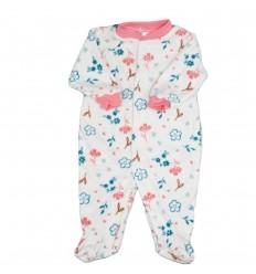 Pijama enteriza para niña de flores