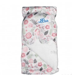 Cobija y almohada para bebé de flores