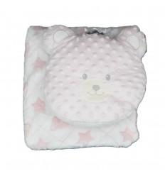 Cobija y almohada de oso niña
