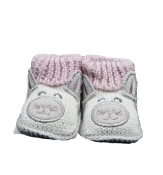 Medias zapato en hilo gris conejo