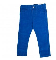 Pantalon pana azul para niño