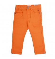 Pantalón en dril naranja para niño