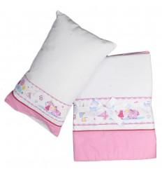 Juego de cuna sabanas con almohada