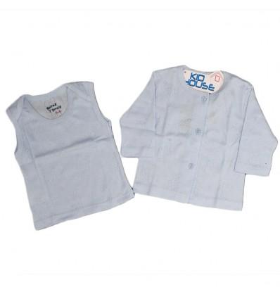 ropa para bebe set de dos piezas azul bebé