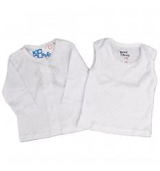 conjunto para bebé set por dos blanco