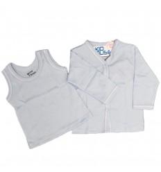 Set de camisas azul para bebé