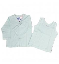 Set de camisa interior x dos verde