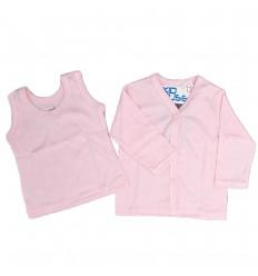 Set de camisas rosa para bebé