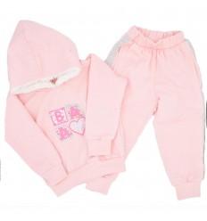 Sudadera 2 piezas para niña rosada