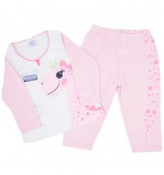 Pijama dos piezas diseño de dinosaurio niña