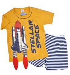 Pijama dos piezas con diseño de cohete