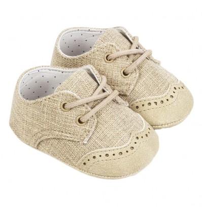 Zapato elegante niño beige