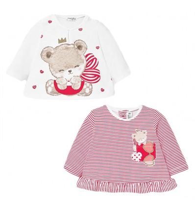 Set de camisas para niñ manga larga