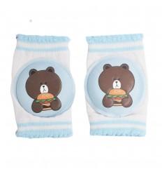Protector de rodillas para bebé de oso