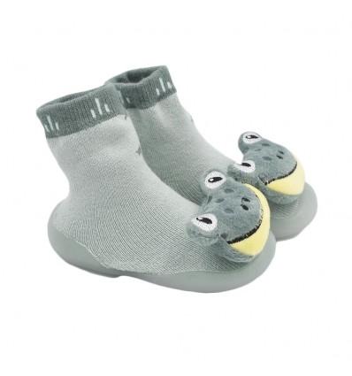 Medias zapato para bebé verde