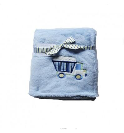 Cobertor azul camión