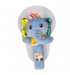 Sonajero en tela con pito-elefante