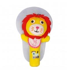 Sonajero en tela con pito-leon