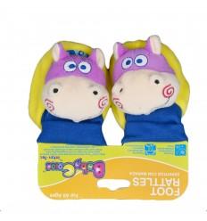 Babuchas para bebé con cascabel-hipopotamo