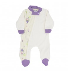 Pijama para bebé prematura-crema