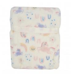 Cobertor con muñeco de apego de unicornio