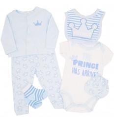 Conjunto 6 piezas para bebé niño-azul
