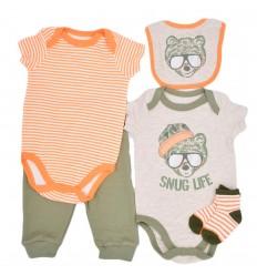 Conjunto 5 piezas para bebé niño-verde